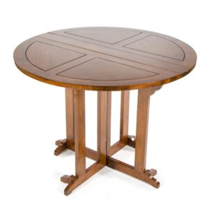 Accent Round Folding Table - Dark Finish