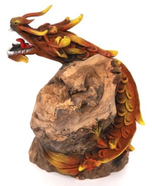 Dragon on wood - 10 inch