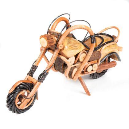Handmade Rattan Motorbike - 16 inch