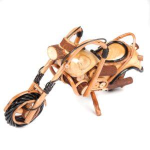 Handmade Rattan Motorbike - 13 inch