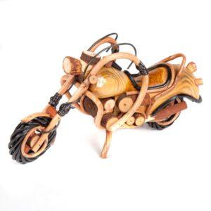 Handmade Rattan Motorbike - 12 inch