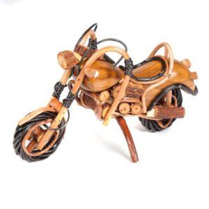 Handmade Rattan Motorbike - 9 inch