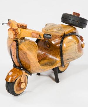 Handmade Rattan Vespa Scooter - Medium