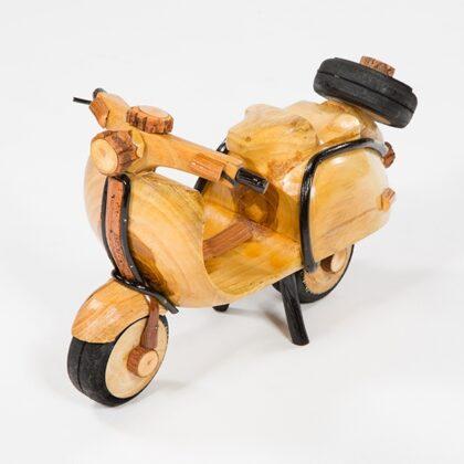 Small Handmade Rattan Vespa Scooter