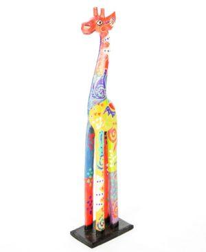Fair Trade Wooden Painted Standing Giraffe - 60cm
