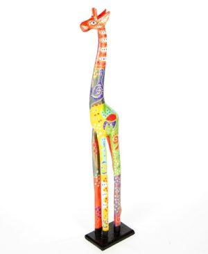 Fair Trade Wooden Painted Standing Giraffe - 100cm