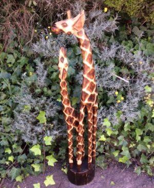 Fair Trade Wooden Giraffe Family - 1.2m