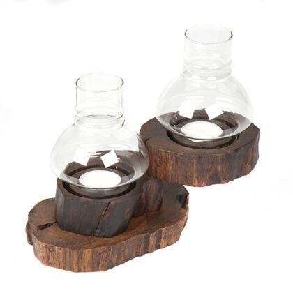Folding Tea Light with Glass - 2