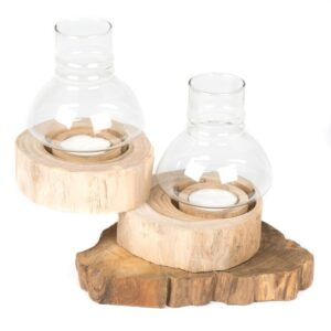 Folding Tea Light with Glass - 2