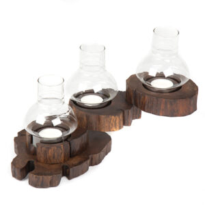 Folding Tea Light with Glass - 3