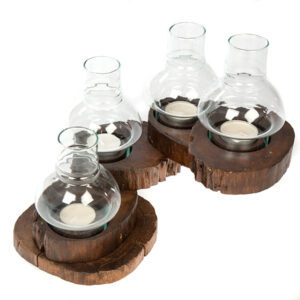 Folding Tea Light with Glass - 4