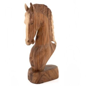 Hand Carved Horse Head - 80cm