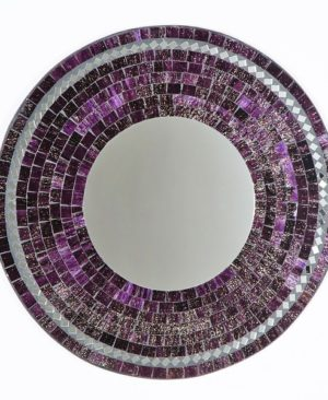 Mosaic Mirror - Purple
