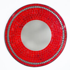 Mosaic Mirror - Red