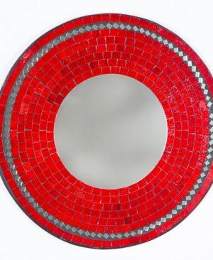 Mosaic Mirror - Red