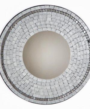 Mosaic Mirror - Grey