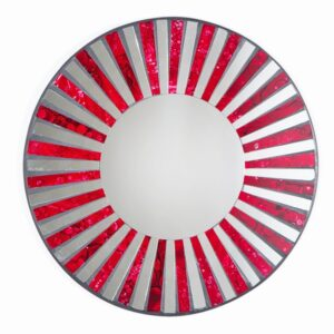 Mosaic Mirror - Red Stripe