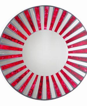 Mosaic Mirror - Red Stripe
