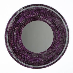 Mosaic Mirror - Purple - 60cm