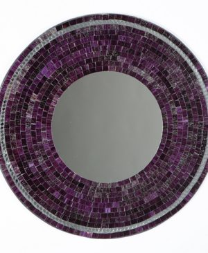 Mosaic Mirror - Purple - 60cm