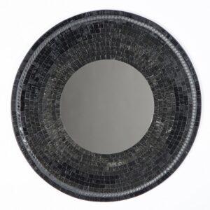 Mosaic Mirror - Black 60cm