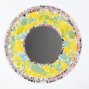 60cm Multi-coloured Mosaic Mirror