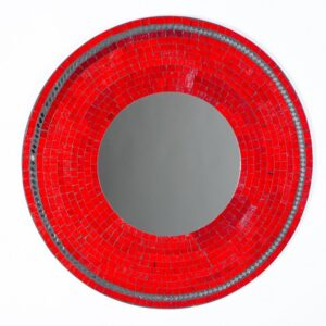 Mosaic Mirror - Red - 60cm