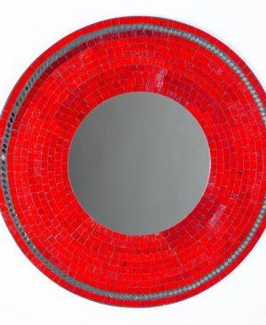 Mosaic Mirror - Red - 60cm