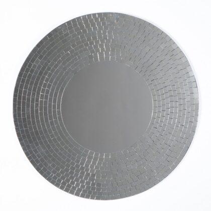 Silver Mosaic Mirror 60cm