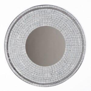 Grey Mosaic Mirror - 60cm