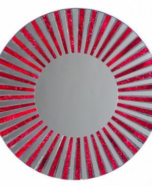 Mosaic Mirror - Red Stripe - 60cm