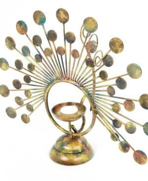 Peacock Tea Light Holder - Small