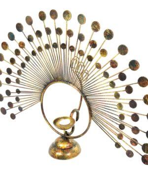 Peacock Tea Light Holder - Large