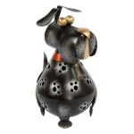 Dog Candle Holder - Black