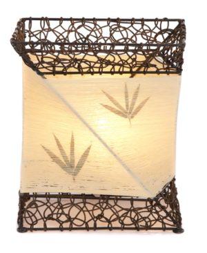 Rectangle Cotton Flower Lamp - 32cm