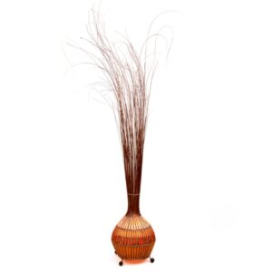 Natural Bali Rattan and Grass Onion Lamp - 100cm