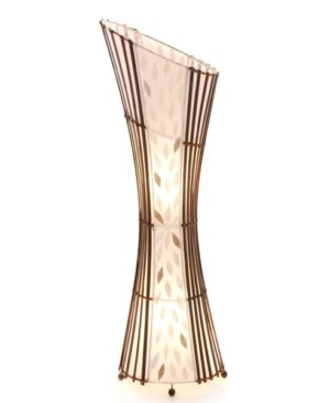 Oval Sexy Bamboo and Flower Shell Floor Lamp - 100cm