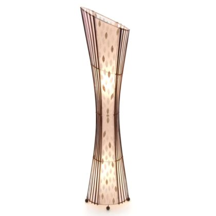 Oval Sexy Bamboo and Flower Shell Floor Lamp - 150cm