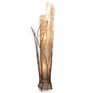 Shell and Twig Wrapped Floor Lamp - 150cm
