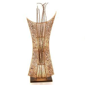Cut Bamboo Shield Lamp - 100cm