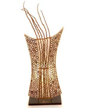 Cut Bamboo Shield Lamp - 70cm