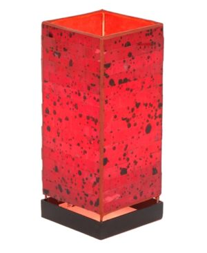 Square Mosaic Lamp - Red - 30cm