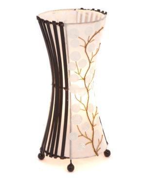 Round White Poppy Table Lamp - 40cm