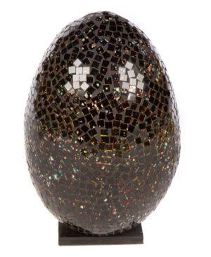 Mosaic Egg Lamp 33cm - Black