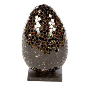 Mosaic Egg Lamp 20cm - Black