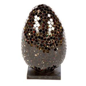 Mosaic Egg Lamp 20cm - Black