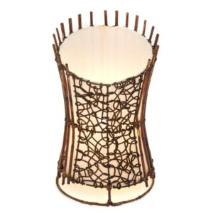 Round Rattan and Wicker table Lamp Top Cut - 35cm