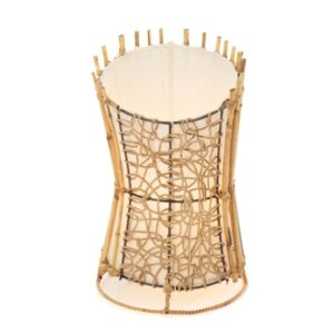 Round Rattan and Wicker table Lamp Top Cut - 35cm -Clear