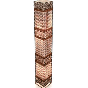 Square Woven & Twisted Wicker Floor Lamp - 150cm