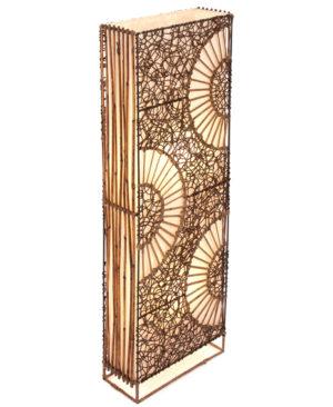 Flat Rattan & Wicker Half Circle Lamp - 100cm